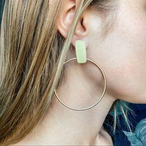 Anthropologie Limitless Hoop Earrings